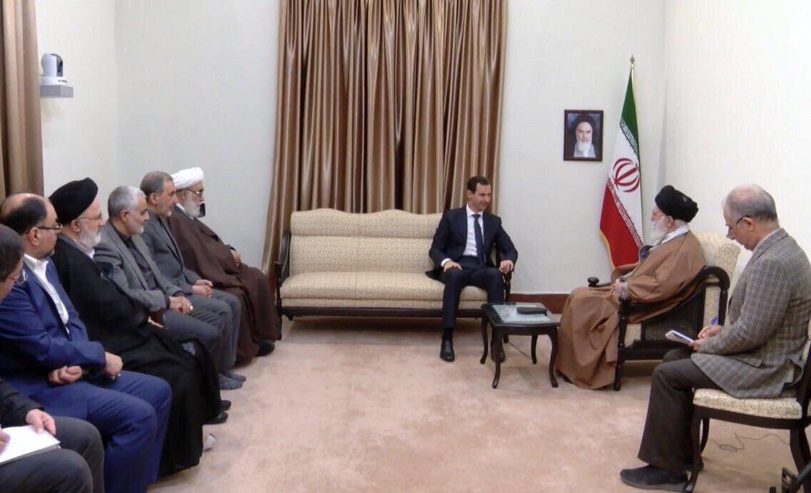 عکس؛ حضور سردار سلیمانی در جلسه دیدار بشار اسد با رهبری و روحانی - 2