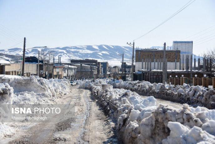 تصاویر/ بارش سنگین و بیسابقه برف در کالپوش شهرستان میامی - 1