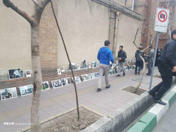 تجمع مقابل سفارت فرانسه در تهران+عکس - 12