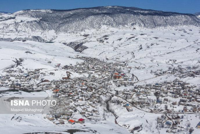 تصاویر/ بارش سنگین و بیسابقه برف در کالپوش شهرستان میامی - 10