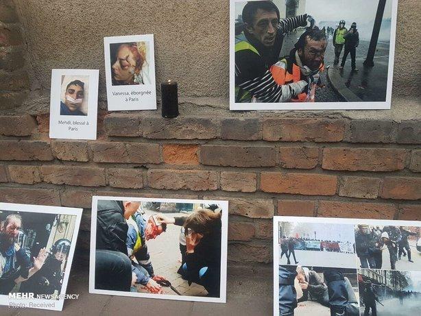 تجمع مقابل سفارت فرانسه در تهران+عکس - 17