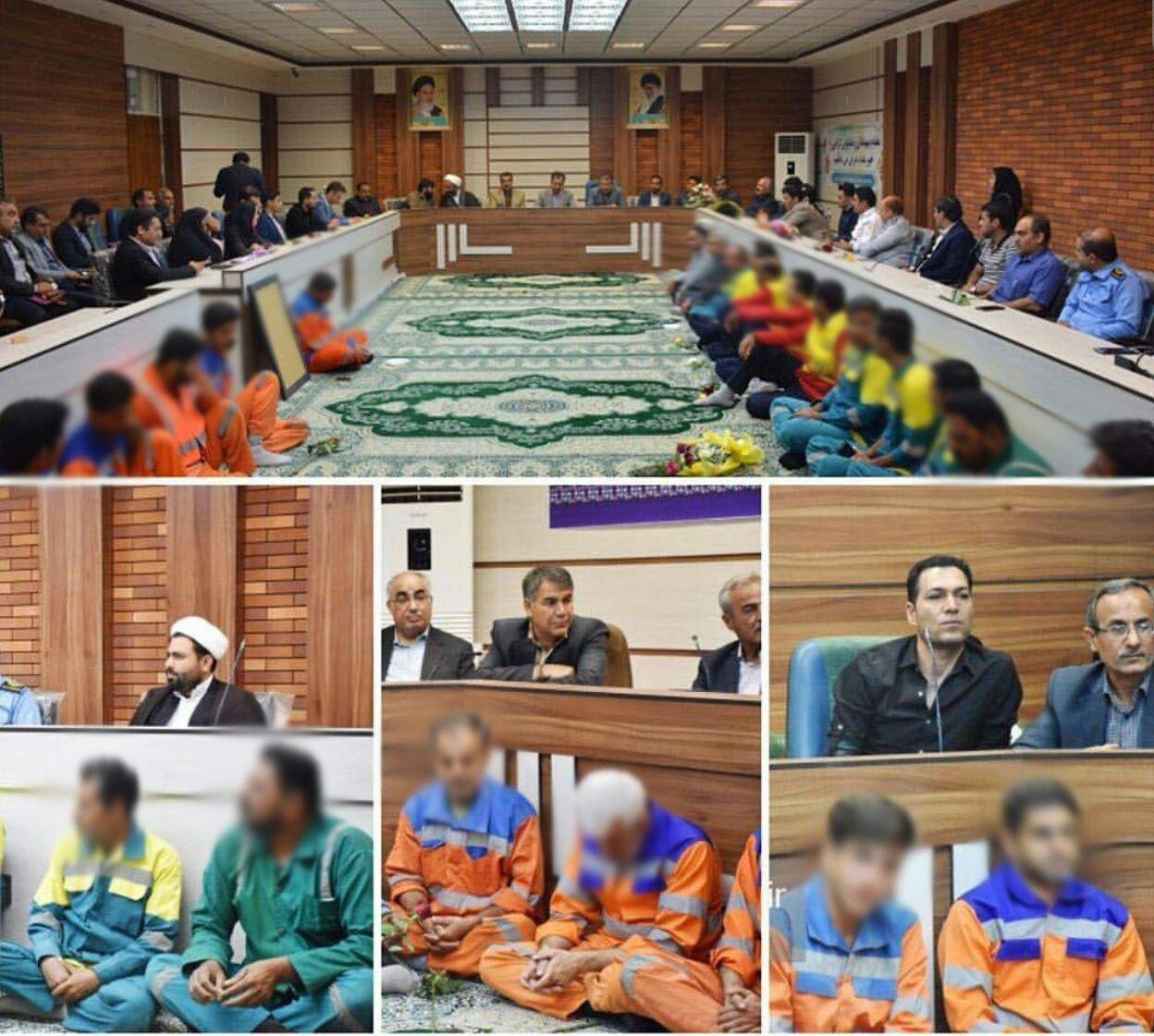 عکس| حرکت زننده و تحقیرآمیز شهرداری برازجان با «پاکبانان» - 2