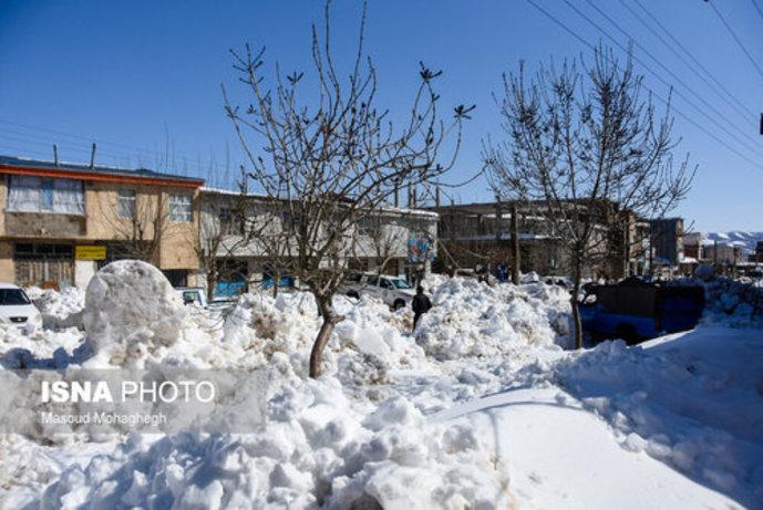 تصاویر/ بارش سنگین و بیسابقه برف در کالپوش شهرستان میامی - 9