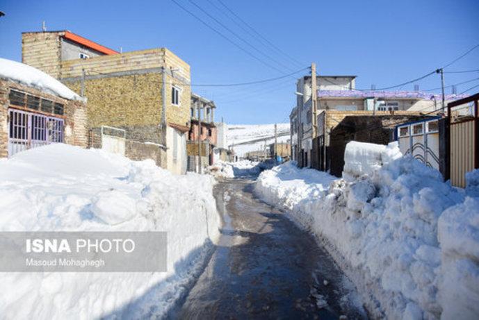 تصاویر/ بارش سنگین و بیسابقه برف در کالپوش شهرستان میامی - 3