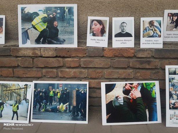 تجمع مقابل سفارت فرانسه در تهران+عکس - 15