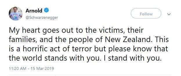 واکنش آرنولد به حمله تروریستی نیوزیلند - 2
