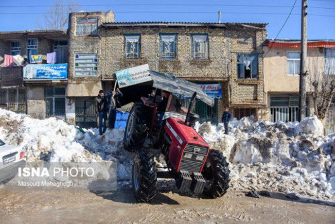 تصاویر/ بارش سنگین و بیسابقه برف در کالپوش شهرستان میامی - 5
