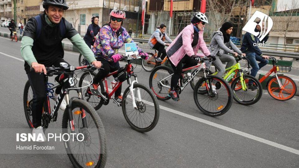 همایش بزرگ دوچرخه سواری در تهران - 13
