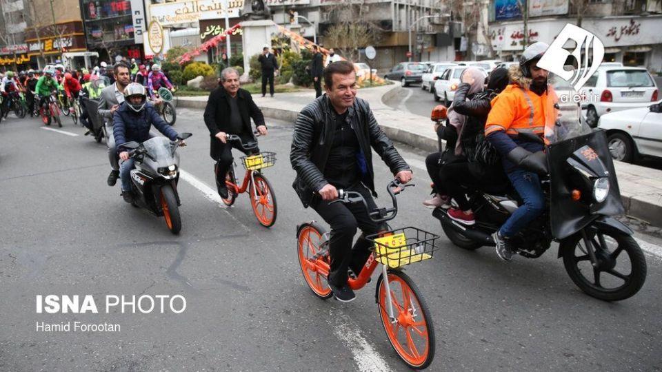 همایش بزرگ دوچرخه سواری در تهران - 0
