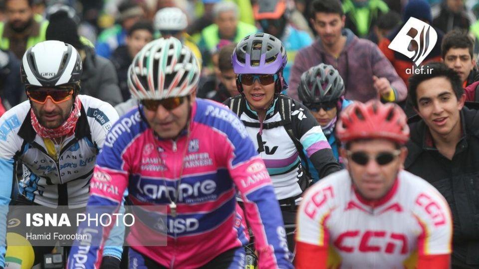 همایش بزرگ دوچرخه سواری در تهران - 7