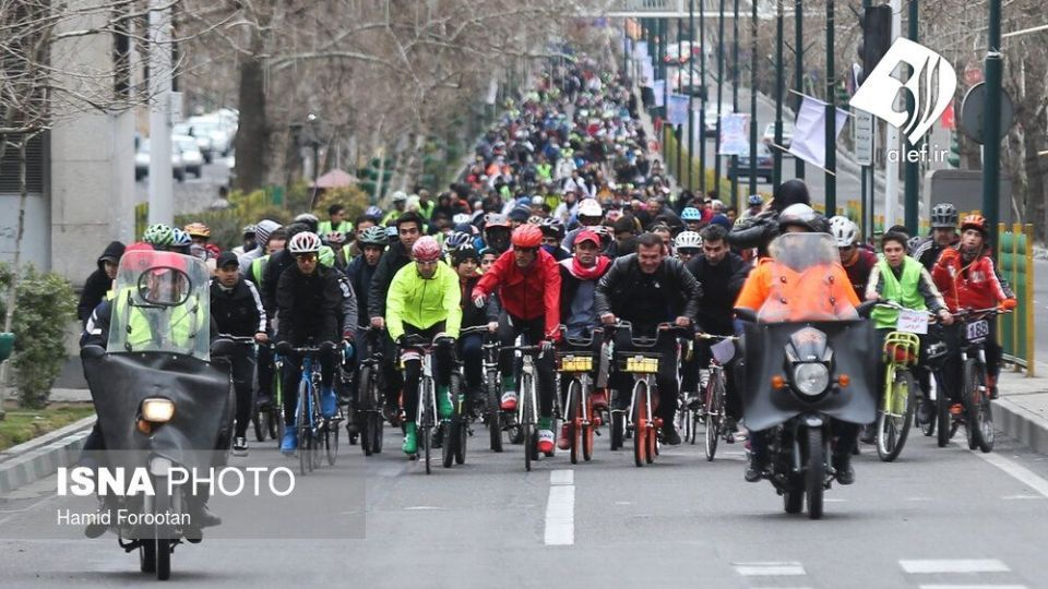 همایش بزرگ دوچرخه سواری در تهران - 4