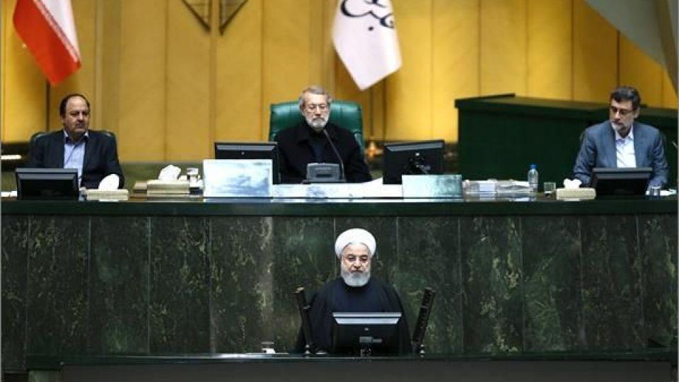 حضور رئیس جمهور در صحن علنی مجلس شورای اسلامی - 8