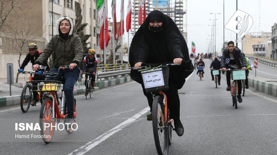 همایش بزرگ دوچرخه سواری در تهران - 11