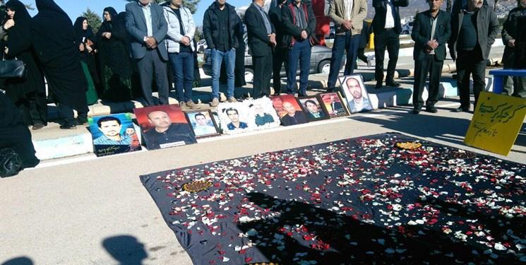 اولین سالگرد قربانیان سانحه تهران- یاسوج بدون حضور مسئولان + تصاویر - 6