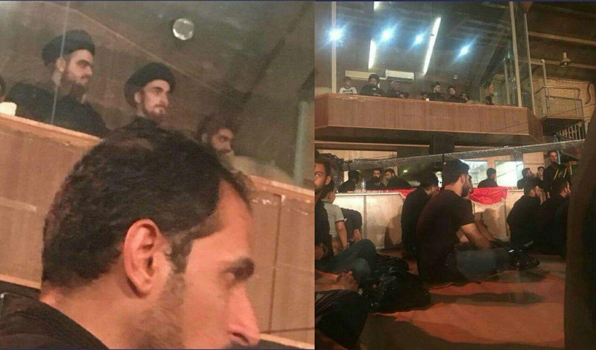 جایگاه vip سید احمد خمینی در مراسم عزاداری - 0