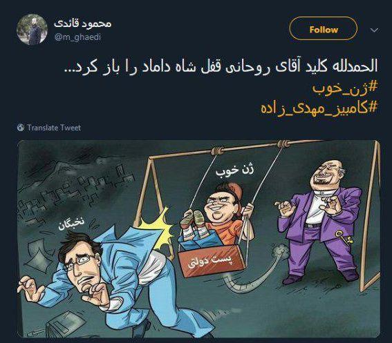 واکنشها به انتصاب داماد رئیسجمهوری به معاونت وزیر؛ کلید روحانی قفل شاه داماد را باز کرد - 6