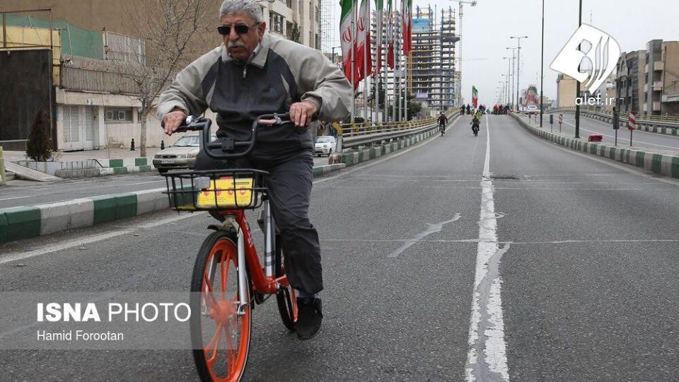 همایش بزرگ دوچرخه سواری در تهران - 12