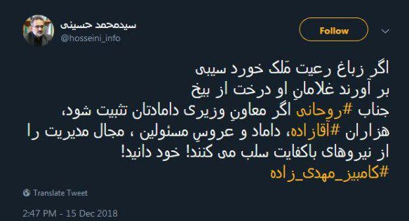 واکنشها به انتصاب داماد رئیسجمهوری به معاونت وزیر؛ کلید روحانی قفل شاه داماد را باز کرد - 15