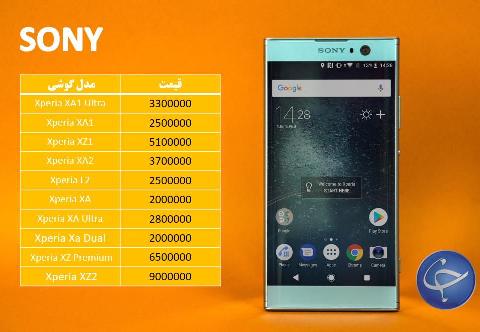 آخرین قیمت تلفن همراه در بازار + جدول - 9