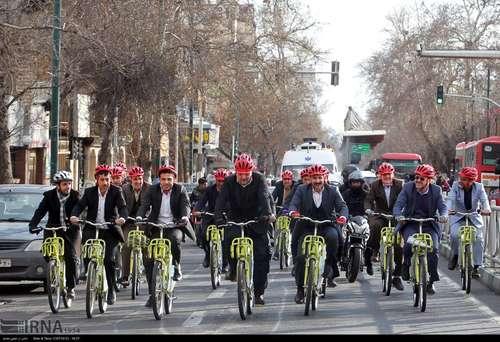 دوچرخه سواری شهرداران کلانشهرهای ایران (عکس) - 2