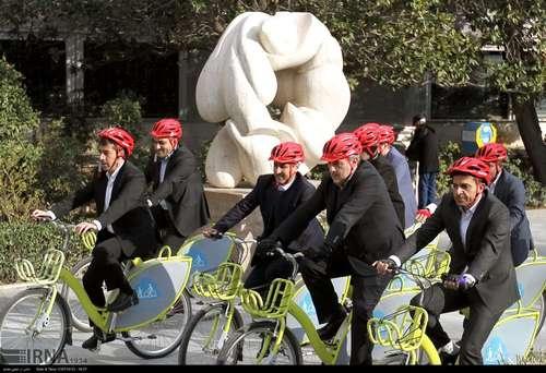 دوچرخه سواری شهرداران کلانشهرهای ایران (عکس) - 8