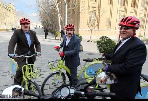 دوچرخه سواری شهرداران کلانشهرهای ایران (عکس) - 11