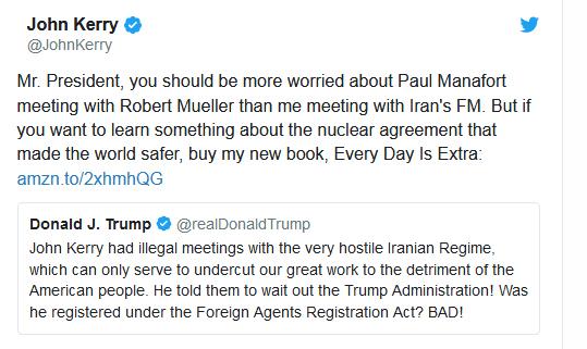 """دعوای """"تماسهای کری- ظریف"""" درون هیات حاکمه آمریکا - 6"""