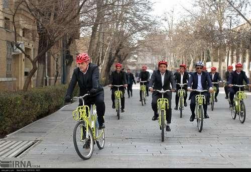 دوچرخه سواری شهرداران کلانشهرهای ایران (عکس) - 7