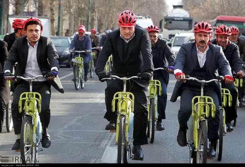 دوچرخه سواری شهرداران کلانشهرهای ایران (عکس) - 0