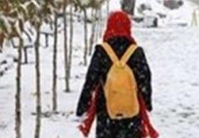تعطیلی مدارس ابتدایی همدان به خاطر بارش برف - 1