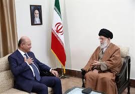 مقام معظم رهبری در دیدار رئیس جمهور عراق: کنار برادران عراقی خواهیم بود/ مقابل دشمنان «عراقِ قدرتمند و آرام» با قدرت بایستید - 0