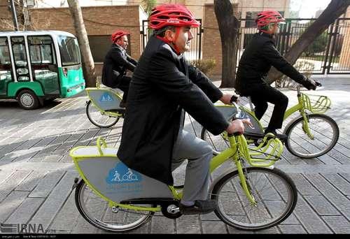 دوچرخه سواری شهرداران کلانشهرهای ایران (عکس) - 5