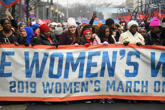 تظاهرات زنان آمریکایی علیه ترامپ - 11