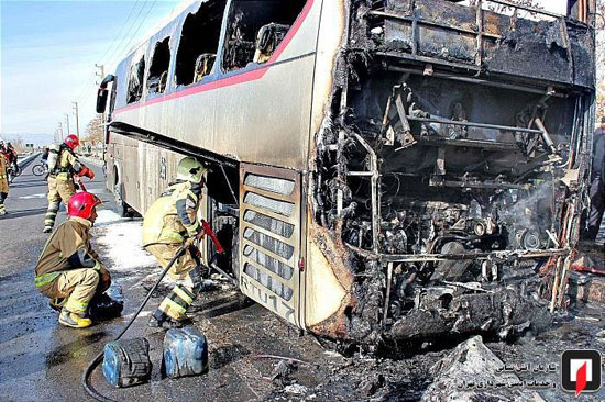 آتشسوزی اتوبوس بین شهری در جنوب تهران - 6