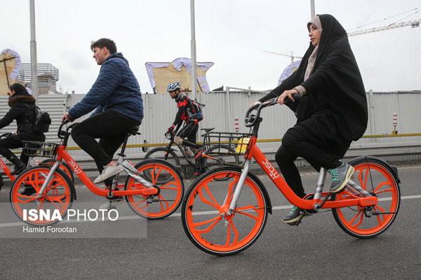 تصاویری از بانوان دوچرخهسوار در تهران - 10