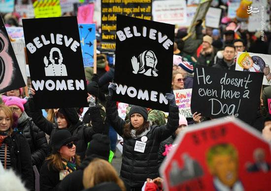 تظاهرات زنان آمریکایی علیه ترامپ - 3