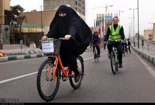 تصاویری از بانوان دوچرخهسوار در تهران - 5