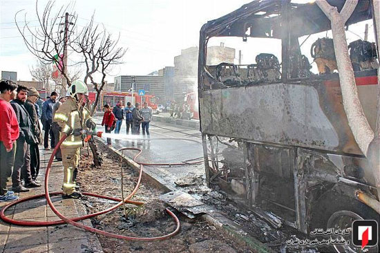 آتشسوزی اتوبوس بین شهری در جنوب تهران - 9