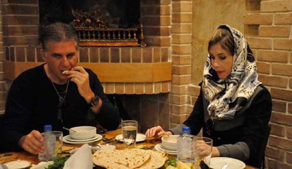 کیروش و همسرش در یک رستوران ایرانی - 2