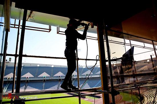آماده سازی ورزشگاه آزادی برای دیدار فینال آسیا - 4