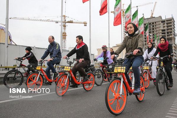 تصاویری از بانوان دوچرخهسوار در تهران - 3