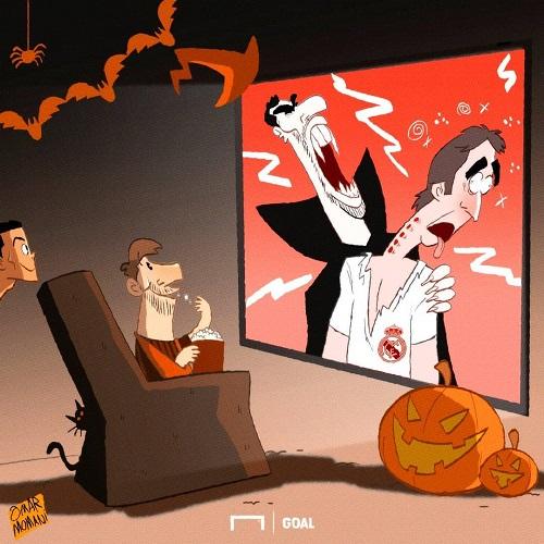 کاریکاتور: سینمایی الکلاسیکو به مناسبت هالووین - 2