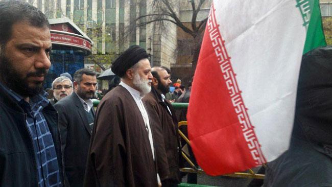 حجتالاسلام مصطفی خامنهای در راهپیمایی تهران - 2