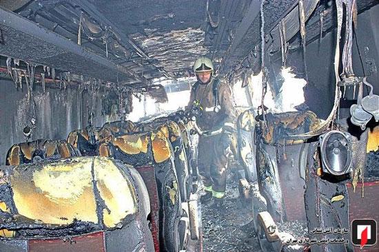 آتشسوزی اتوبوس بین شهری در جنوب تهران - 8