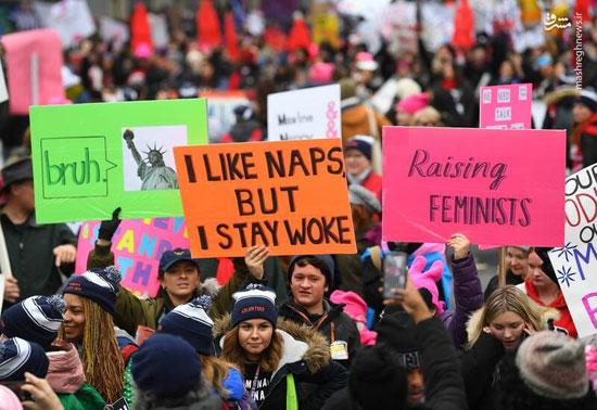 تظاهرات زنان آمریکایی علیه ترامپ - 13