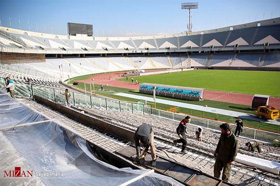 آماده سازی ورزشگاه آزادی برای دیدار فینال آسیا - 3