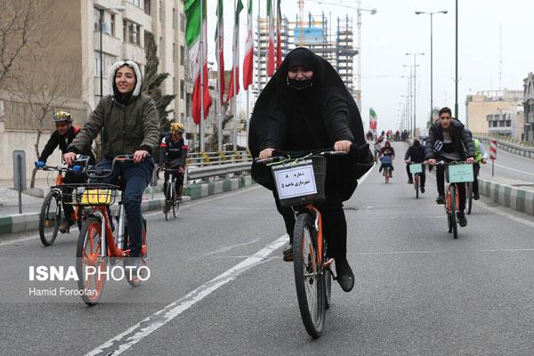 تصاویری از بانوان دوچرخهسوار در تهران - 1