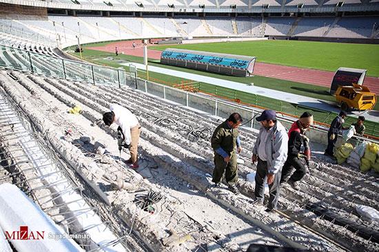 آماده سازی ورزشگاه آزادی برای دیدار فینال آسیا - 6