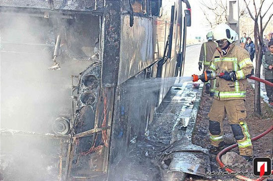 آتشسوزی اتوبوس بین شهری در جنوب تهران - 5