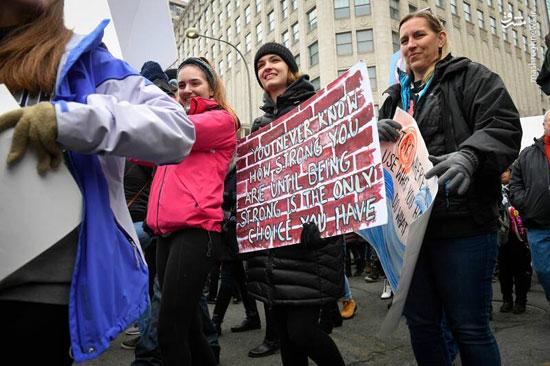 تظاهرات زنان آمریکایی علیه ترامپ - 4